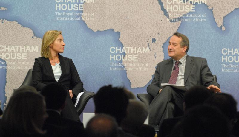 "At Chatham House, speaking of ""our joint place in the world"""