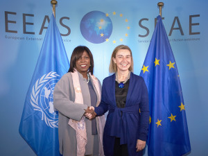 Mogherini receives Ertharin Cousin, Executive Director of the UN World Food Program