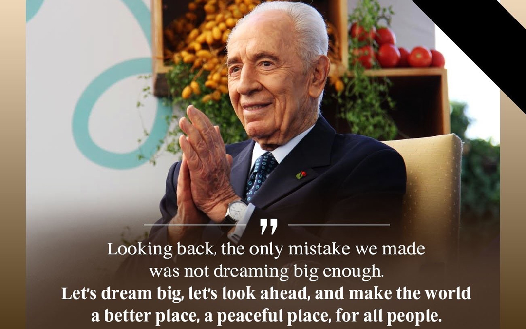In memory of Shimon Peres, hope builder